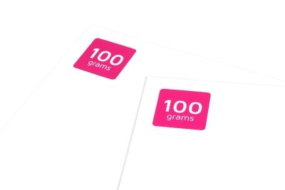 Dunne papiersoorten zijn geschikt voor simpele prints