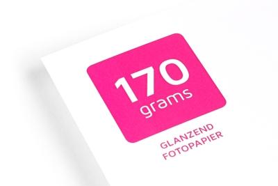 Glanzende flyers, folders en foto's online laten drukken op 170 grams glossy papier
