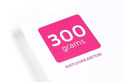 Laat onze 300 grams Natuurkarton papiersoort goedkoop bedrukken