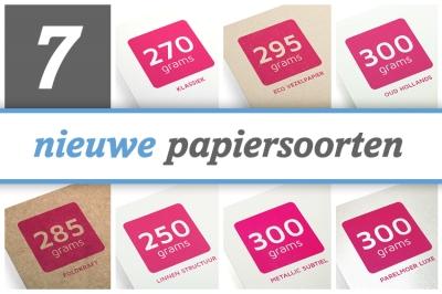 Nieuwe papiersoorten om je document extra waarde te geven