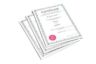 Goedkoop en snel je certificaten printen