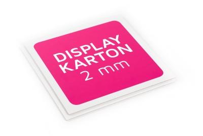 Very robust 2 mm display cardboard