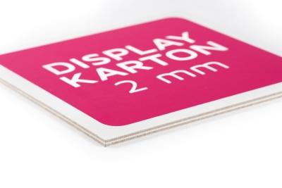 Displaykarton is een voordelig plaatmateriaal met een mooie toplaag