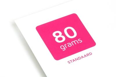 Printen op ecologisch 80 grams papier