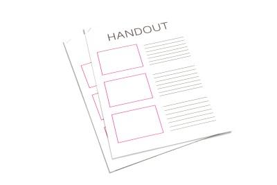 Eenvoudig en snel online handouts afdrukken