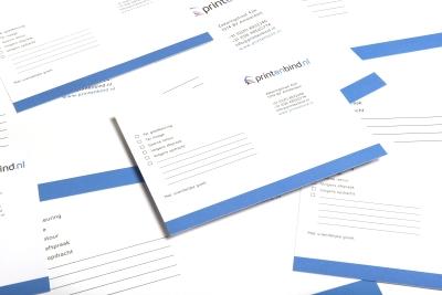 Hoge kwaliteit afdruk op stevig papier