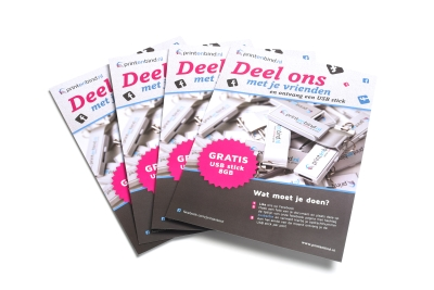 Print flyers online: standard delivery within two businessdays