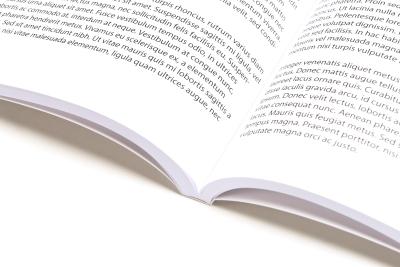 Hoge kwaliteit: portfolio inbinden als een boek