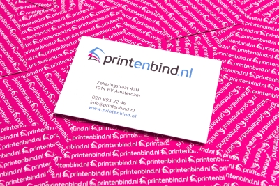 Upload the own design of your business card easily online