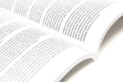 Opengeslagen scriptie, Garenloos ingebonden