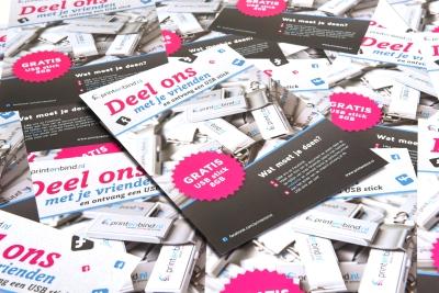 Grote en kleine oplages A5 flyers snel en goedkoop in huis