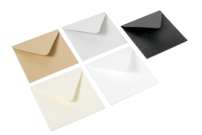 Basic color envelopes: kraft, biotop, black, ivory and gray