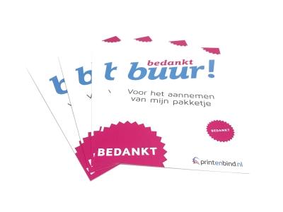 Bedankkaartjes drukken in grote en kleine oplages