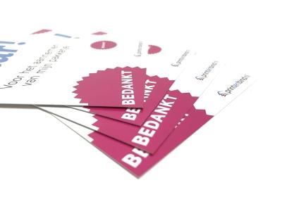 Kies zelf de papiersoort voor jouw persoonlijke bedankkaarten