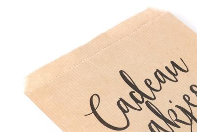 Onze papieren zakjes zijn gemaakt van dun maar stevig materiaal