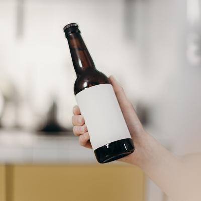 Order blank sticker sheets for wine or beer bottles