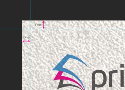 Stel een bleed in van tenminste 3 mm bij je eigen ontwerp flyer