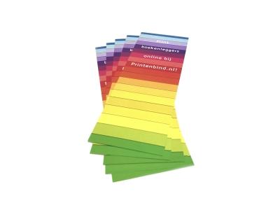 Grote en kleine oplages boekenleggers voordelig geprint