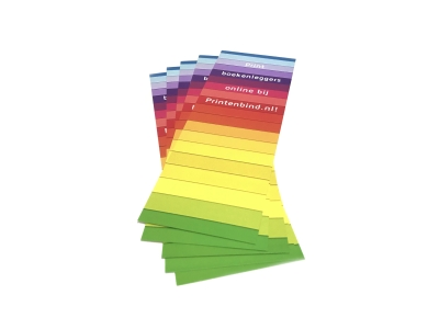 Large and small numbers of bookmarks printed inexpensively