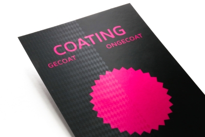 High gloss coating for your documents