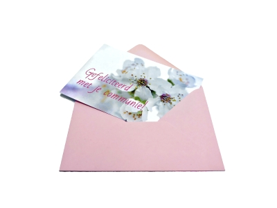 Fast delivery of communion cards, including envelope