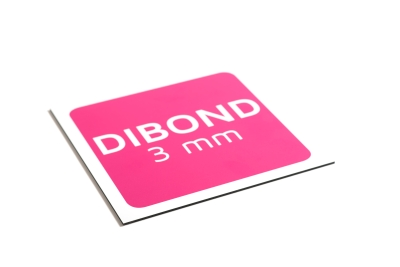 Dibond plaat is verkrijgbaar in 3 mm