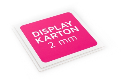 Display Karton is verkrijgbaar in 2 mm