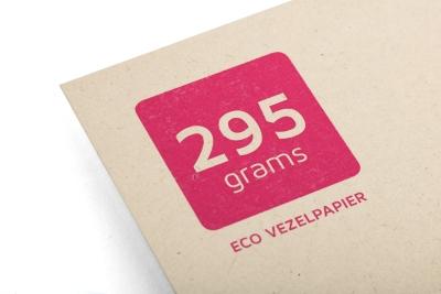 Ecovezel papier is gemaakt van landbouwafval, super duurzaam dus!