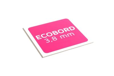 Ecobord is verkrijgbaar in 3.8 mm