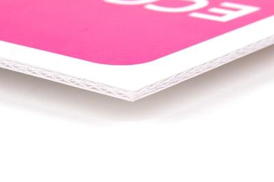 De binnenzijde van ecobord bestaat uit meerdere lagen