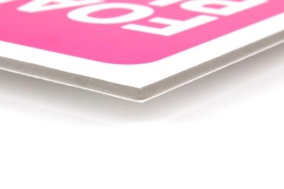 Bestel foamplaat met scherpe of ronde hoeken