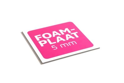 Foamplaat is verkrijgbaar in 5 mm