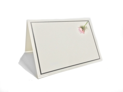 Mourning card folded with frame