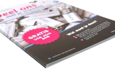 Laat je A7 flyers online goedkoop drukken