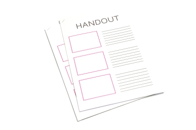 Nieten van documenten is zeer geschikt voor handouts
