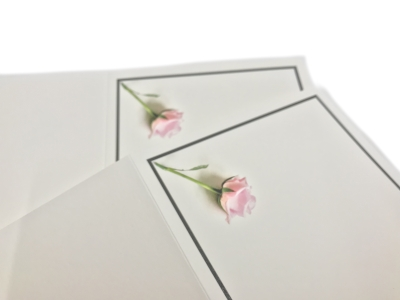 Large and small quantities of mourning cards at a low price rate