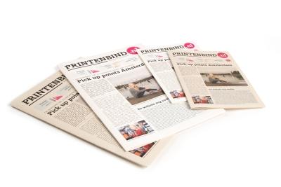 Eenvoudig en snel kranten drukken