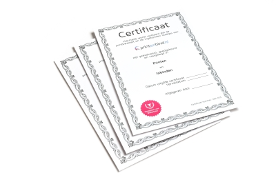 Cheap and fast printing of certificates