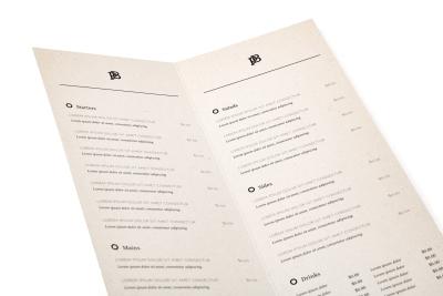 Menukaarten printen bij Student-Print