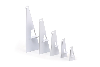 A range of multiple sized cardboard easels