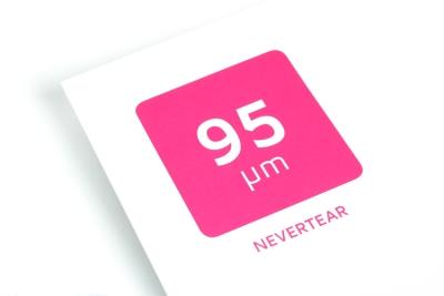 Dun Nevertear papier is geschikt voor water en scheurbestendige flyers