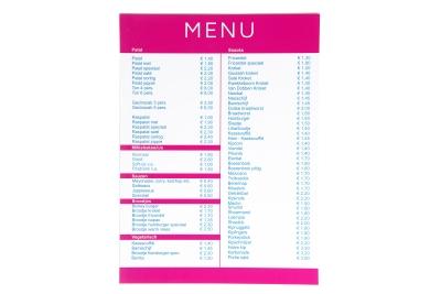 Onscheurbare menukaarten nu verkrijgbaar!