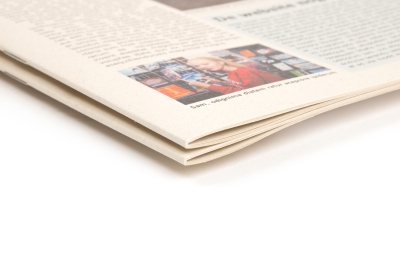 Newspapers drip on ecological natural paper