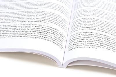 Opengeslagen boek Garenloos ingebonden