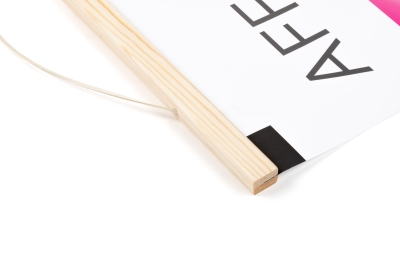 Buy poster strips made of wood in various sizes online: A2, A1 and A0