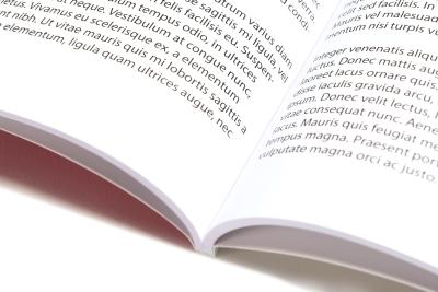 Adhesive binding: opened family book