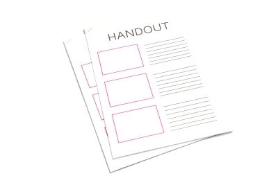 Laat je printwerk boven, onder, links of rechts of nieten