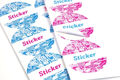 Fast printing of sticker sheets: cheap in high and low volumes