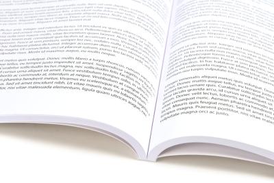 Geopend softcover boek: print elk boek dat u maar wilt