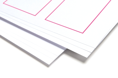 High quality prints stapled together with professional machinery